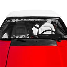 Mustang 5.0 Resto Windshield Banner  - Silver (79-93)