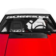 Mustang 5.0 Resto Windshield Banner  - White (79-93)