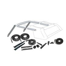 Mustang Convertible Top 16 Piece Weatherstrip Kit From 10/87 (88-93)