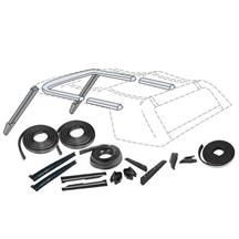 Mustang Convertible Top 19 Piece Weatherstrip Kit (90-93)