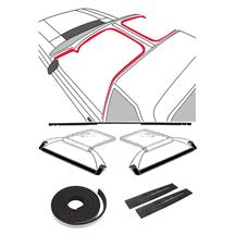 Mustang T-Top 9 Piece Weatherstrip Kit, After 10/83 (84-86)