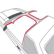 Mustang T-Top To Body Weatherstrip, LH (87-88)