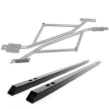Mustang Steeda Subframe Brace & J&M Jacking Rail Kit  - Black (15-18)