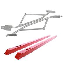 Mustang Steeda Subframe Brace & J&M Jacking Rail Kit  - Red (15-18)