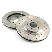 Mustang Drilled & Slotted Front Brake Rotors, Pair (94-04)