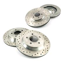 Mustang Drilled & Slotted Brake Rotor Kit (94-04)