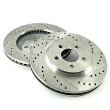"Mustang Front Brake Rotors - 12.43"" - Slotted & Drilled (05-14) V6/GT"