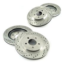 Mustang Brake Rotor Kit - Drilled & Slotted - Front & Rear (05-14) V6/GT