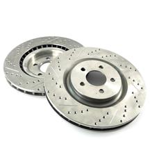 "Mustang Front Brake Rotors - 14"" - Drilled & Slotted (07-14) GT/GT500/BOSS 302"