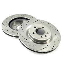 "Mustang Front Brake Rotors - 13.23"" - Drilled & Slotted (11-14)"