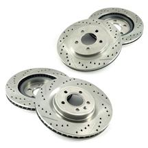 Mustang Brake Rotor Kit - Drilled & Slotted  - Front & Rear (11-14)
