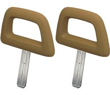 Mustang Halo Headrest Pair Tan (84-86)