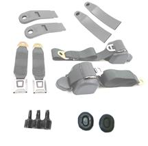Mustang Front Seat Belt Kit  - Smoke Gray (87-89)