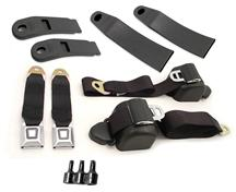 Mustang Front Seat Belt Kit  - Black (90-93)