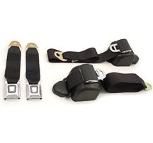 Mustang Front Seat Belt Set Black (90-93)