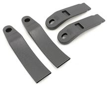Mustang Front Seat Belt Sleeve Kit Smoke Gray (87-89)