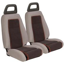 Mustang TMI GT Cloth Sport Seat Upholstery Charcoal Gray w/ Red Welt (85-86) Hatchback