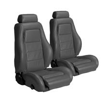 Mustang Leather Seat Upholstery Dark Gray (1984)