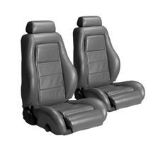 Mustang Leather Seat Upholstery Dark Gray (85-86)