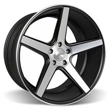 Mustang KMC 685 District Wheel - 20x10.5 Black w/ Machined Face (05-16)