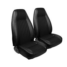 Mustang TMI Seat Upholstery Black Cloth/Vinyl (81-82) High Back Coupe