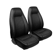 Mustang TMI Seat Upholstery Black Vinyl (81-83) High Back Coupe