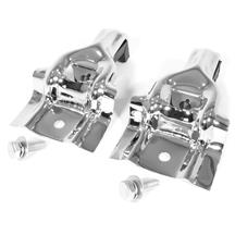 Mustang Upper Radiator Brackets  - Chrome (84-93) 5.0