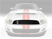Mustang Upper Grille with Emblem (10-12)