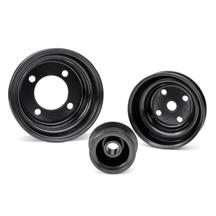 Mustang Factory Style Steel Pulley Kit - 5.0 Black (79-93)