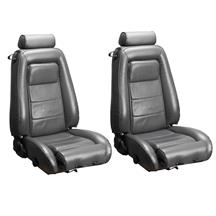 Mustang TMI Sport Seat Upholstery Charcoal Gray Leather (85-86) Convertible