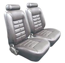 Mustang TMI Standard Seat Upholstery Smoke Gray Vinyl (87-89) Coupe