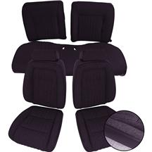Mustang ACME Seat Upholstery Black Cloth (90-91) Coupe