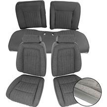 Mustang TMI Sport Seat Upholstery Smoke Gray Cloth (87-89) Convertible