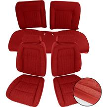 Mustang Sport Seat Upholstery Red Cloth (87-89) Convertible