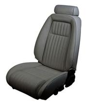 Mustang TMI Sport Seat Upholstery Smoke Gray Leather (87-89) Convertible