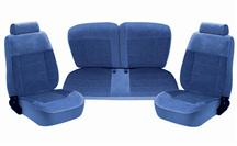 Mustang TMI Seat Upholstery Regatta Blue Cloth (87-89) LX Hatchback