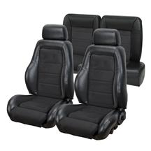 Mustang TMI 03-04 Cobra Seat Upholstery w/ Seat Foam Black Vinyl/Suede (87-89) Coupe