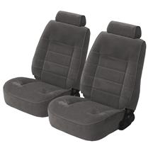 Mustang TMI Standard Seat Upholstery Smoke Gray Cloth (87-89) Coupe