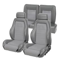 Mustang 03-04 Cobra Style Upholstery with Seat Foam Smoke Gray/ Graphite Insert (87-89) hatchbac...