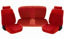 Mustang Seat Upholstery Scarlet Red Cloth (90-92) Hatchback