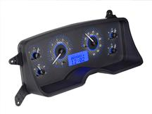 Mustang Dakota Digital VHX Digital Instrument Cluster  - Carbon Face/Blue Backlighting (87-89)