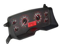 Mustang Dakota Digital VHX Digital Instrument Cluster  - Carbon Face/Red Backlighting (87-89)