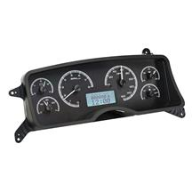 Mustang Dakota Digital VHX Digital Instrument Cluster  - Black Alloy/White Backlighting (87-89)