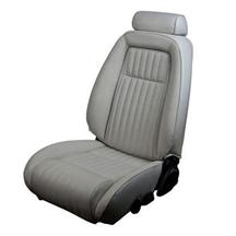 Mustang TMI Sport Seat Upholstery Titanium Gray Vinyl (90-91) Coupe