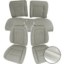 Mustang Acme Sport Seat Upholstery Titanium Gray Cloth (90-91) Coupe