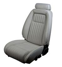 Mustang TMI Sport Seat Upholstery Titanium Gray Leather (90-91) Hatchback