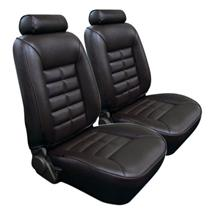 Mustang TMI Seat Upholstery Black Vinyl (90-92) LX Coupe