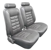 Mustang TMI Seat Upholstery Titanium Gray Vinyl (90-92) LX Coupe