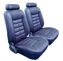 Mustang TMI Seat Upholstery Crystal Blue Vinyl (90-92) LX Coupe