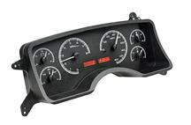 Mustang Dakota Digital VHX Digital Instrument Cluster  - Black Alloy, Red Backlighting (90-93)